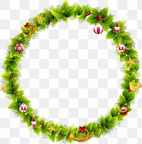 Christmas Wreath - Wreath Christmas Santa Claus Garland Clip Art PNG