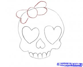 Drawings Of Heart With Ribbon - Drawing Skull How-to Clip Art PNG