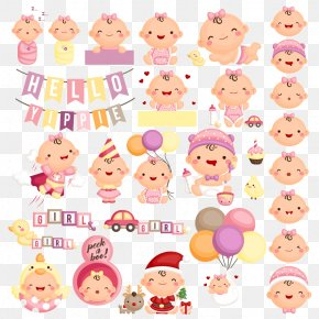 Decorative Vector Cartoon Baby - Euclidean Vector Clip Art PNG