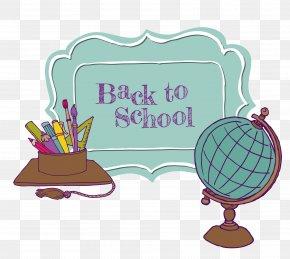 School Season Globes School Supplies - School Photography Clip Art PNG