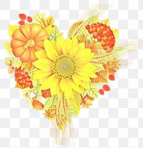 Sunflower Floral Design - Floral Design PNG