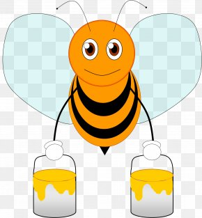Cartoon Pictures Of Bees - Bee Animation Cartoon Clip Art PNG
