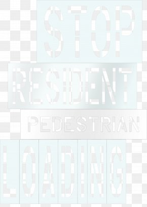 Parking Lot Striping Stencils - Paper Product Design Pattern Font Brand PNG