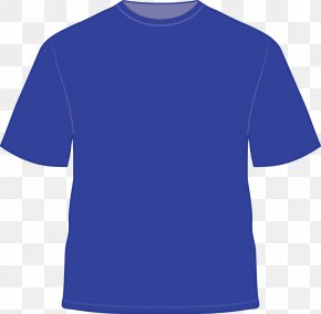 Tshirt - T-shirt Blue Clothing Sleeve PNG