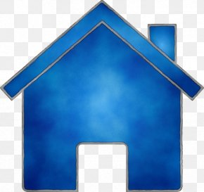 Electric Blue Architecture - Blue Roof House Home Architecture PNG