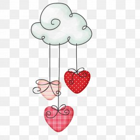 Cloud - Heart Cloud Drawing PNG