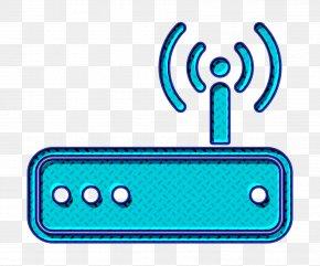 Turquoise Wireless Icon - Communication Icon Internet Icon Lan Icon PNG