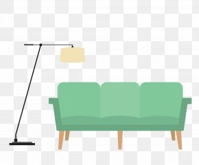 Vector Sofa Lamp - Table Living Room Euclidean Vector Drawing Room PNG