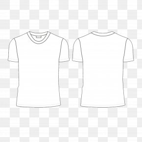 White T-shirt Vector Material - T-shirt White Collar Neck PNG