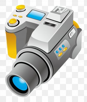 Professional Digital Cameras Vector Material - Photographic Film Camera Euclidean Vector PNG