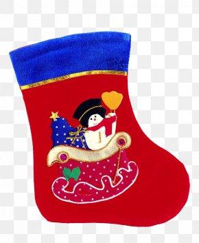Christmas Stocking - Santa Claus Christmas Stocking Christmas Gift PNG
