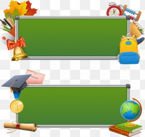 Vector Green Chalkboard Education - School Stock Illustration Icon PNG