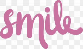 Pink Smile Art Words - Smile Euclidean Vector Microsoft Word PNG