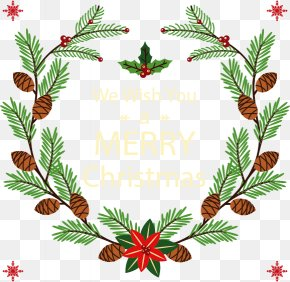 Hand-painted Christmas Wreath PNG
