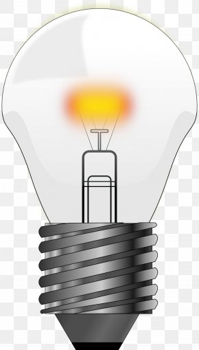 Electric Light - Incandescent Light Bulb Lighting Clip Art PNG