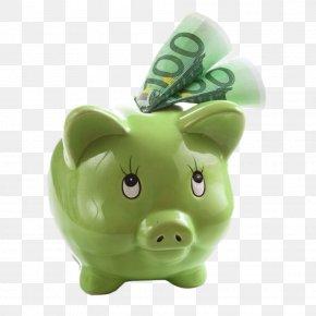 Pig Piggy Bank - Money Piggy Bank Euro Saving Stock Photography PNG