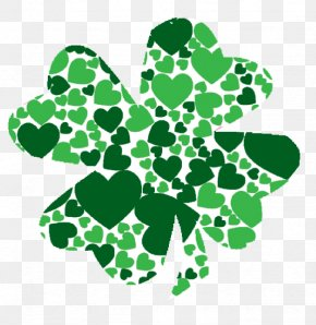 March - Ireland Shamrock Saint Patrick's Day Heart Clip Art PNG