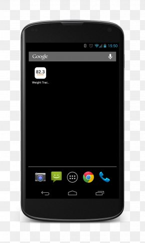 Smartphone - Nexus 4 Google Chrome Android Home Screen Touchscreen PNG
