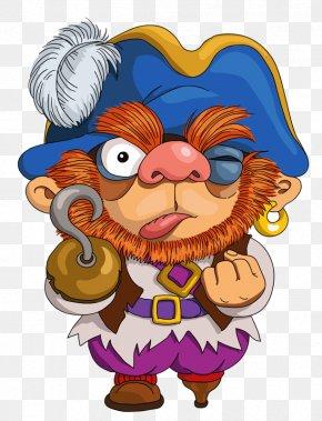 Take The Hook BEARD - Cartoon Piracy Illustration PNG