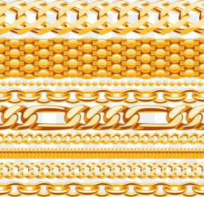 Gold Chains - Chain Metal PNG
