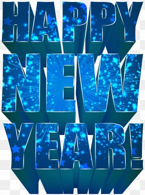 Happy New Year - New Year's Day Christmas Clip Art PNG