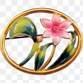 Green Hand Painted Green Leaf Floral Border - Brooch Imitation Gemstones & Rhinestones Jewellery Flower Charm Bracelet PNG