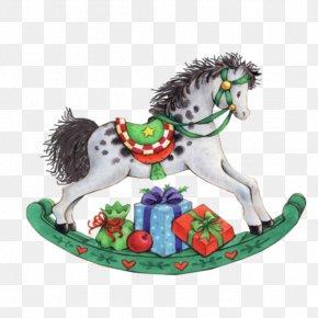Horse - Rocking Horse Santa Claus Christmas Clip Art PNG