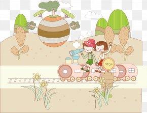 Train Travel - Train Child Travel Illustration PNG