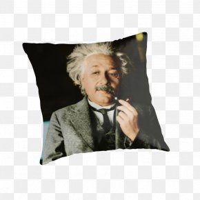 Albert Einstein - Albert Einstein If You Want To Live A Happy Life, Tie It To A Goal, Not To People Or Things. Cushion Zebra Puzzle Throw Pillows PNG