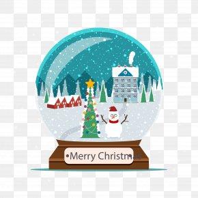 Christmas Crystal Ball - Christmas Tree Snow Crystal Ball PNG