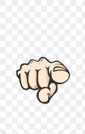 Cartoon Index Finger Pointing Gesture - Pirena Download Icon PNG
