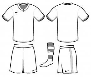Blank Soccer Jersey Template - T-shirt Jersey Kit Football Template PNG