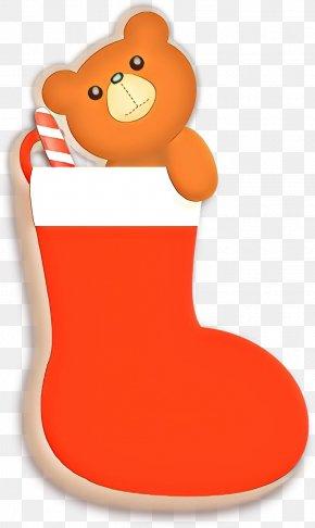 Teddy Bear Christmas Stocking - Christmas Stocking PNG