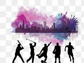 Athlete And Vibrant City Posters - Scholarships In The United States Scholarships In The United States University Baseball PNG