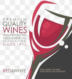 Vintage Red Wine - Wine Label Vintage Bar PNG