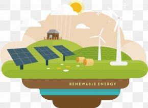 Decorative Renewable Energy - Renewable Energy Pollution Ecology Environment PNG