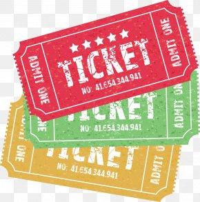 Vector Cartoon Movie Tickets - Ticket Royalty-free Illustration PNG
