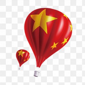 Chinese Flag Hot Air Balloon - 19th National Congress Of The Communist Party Of China Flag Of China PNG
