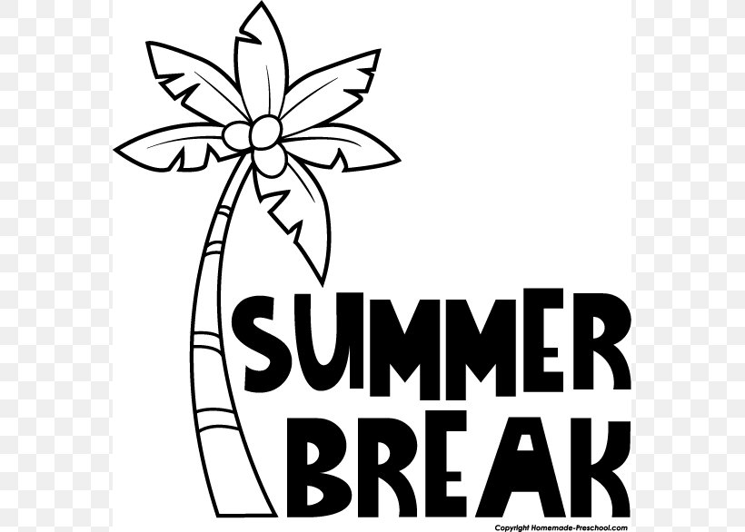 Summer Vacation Black And White Clip Art, PNG, 571x586px, Summer, Area, Artwork, Black And White, Blog Download Free