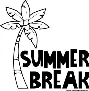 Summer Home Cliparts - Summer Vacation Black And White Clip Art PNG