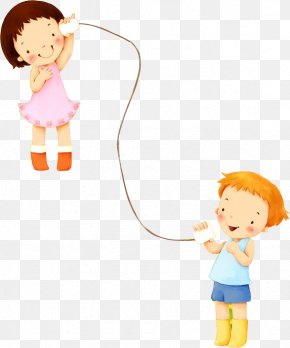 Kids Playing Cartoon - Child Sound Learning Cartoon Illustration PNG