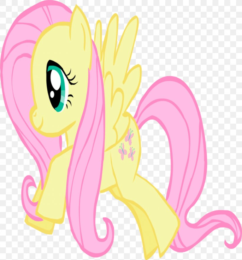 Fluttershy Pony, PNG, 861x928px, Watercolor, Cartoon, Flower, Frame, Heart Download Free