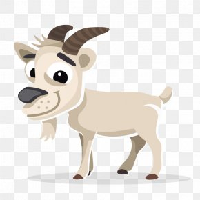 Brown Goat Horns - Boer Goat Clip Art PNG