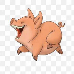 Pig - Domestic Pig Hippopotamus Illustration PNG