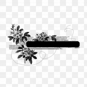 Drawing Flower - Black-and-white Plant Tree Flower Drawing PNG