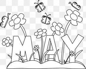 May Cliparts - Coloring Book May Day Maypole May Devotions To The Blessed Virgin Mary PNG