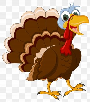 Transparent Thanksgiving Turkey Picture - Turkey Cartoon Clip Art PNG