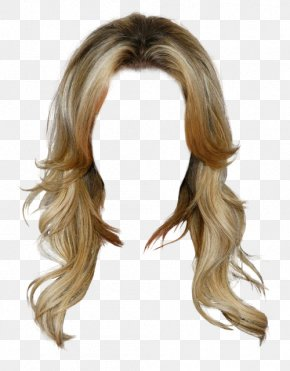 Western Style Golden Hair Wig Free To Pull The Material - Dress Wig Long Hair Clothing PNG