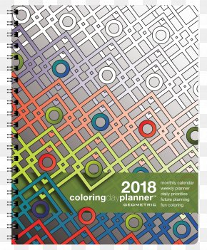 Geometric Cover - Adult Coloring Book: Stress Relieving Patterns PNG