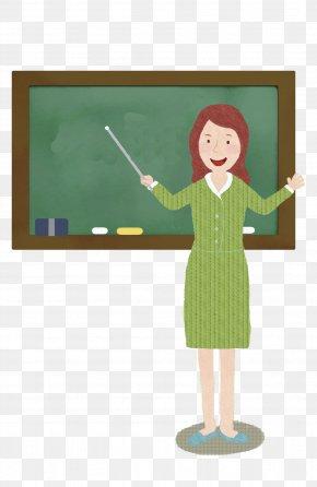 Hand-painted Teacher - Teacher Blackboard Classroom PNG